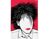 Robert Smith Tea Towel, Robert Smith Dishcloth, Robert Smith Kitchen Towel, Red Tea Towel
