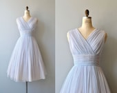 Whisper Soft dress | vintage 1950s dress | chiffon 50s party dress