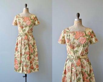 Villa Lante dress | vintage 1960s dress | floral brocade 60s dress