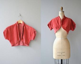 Marjan velvet bolero | vintage 1950s bolero | velvet cropped 50s jacket