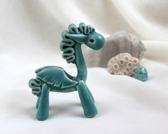 Tiny turquoise Dragon - unique Hand Made Ceramic Eco-Friendly Home Decor by studio Vishnya