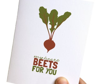 love you card // i love you card // funny love cards // punny cards // happy anniversary card // card for husband // my heart beets for you