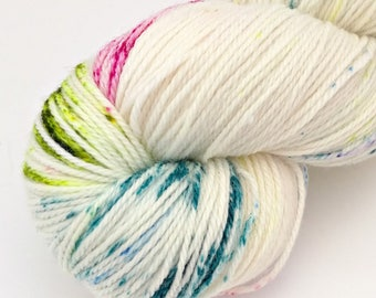 Birthday Cake - Speckled - Hand Dyed Merino and Nylon Sock Yarn - Entree