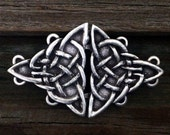 Triangular Celtic Knot Cloak Clasp | Celtic Jewelry | Irish Jewelry | Handcrafted Jewelry | Cloak Clasps | by Treasure Cast Pewter