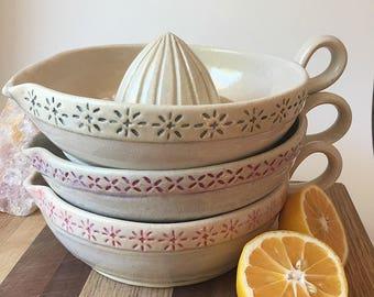 Ceramic Citrus Juicer - Citrus Reamer - Handmade Ceramic Juicer