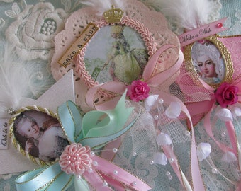 Frilly Party Favor,  Marie Antoinette Favor,  Birthday Favor,  Pink Doily, Shabby Pink Party Favor, Wedding Favors