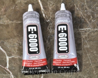 2 Tubes of E6000 Craft Adhesive,  2 oz tubes  (01-01-110)