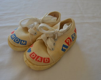 Vintage TODDLER Tennis SHOES size 3 made in usa huggies baby steps
