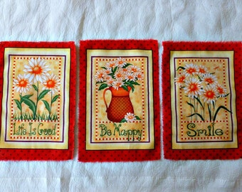 Clearance!  Spring Time Quitling Motifs!  SET OF THREE