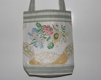 Tote/Grocery Bag with Floral Bouquet