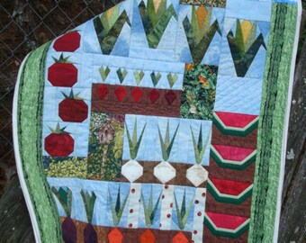 Vegetable Garden Quilted Wallhanging