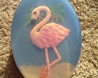 Pink Flamingo Glycerin Bath Soap, choice of scent and color