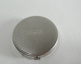 Vintage Coty Compact Vintage Hinged Small Powder Compact with Mirror Vintage Purse Sized Compact Vintage Vanity Display Movie Prop 1950s