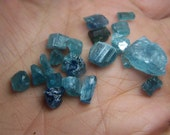 Blue Tourmaline crystals by the gram - small raw rough natural stones - wire wrap orgone for jewelry - bulk specimens chips - coyoterainbow