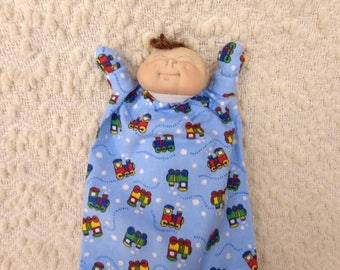 Soft sculptured newborn baby doll puppet