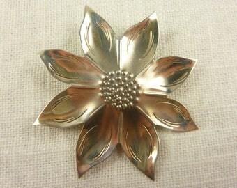 Vintage Stuart Nye Sterling Arts and Crafts Flower Brooch