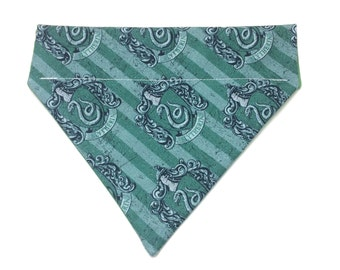 Pet Accessory - Slytherin House Crest - Over the Collar - Custom - Bandana, Bow Tie, Neck Tie, Flower