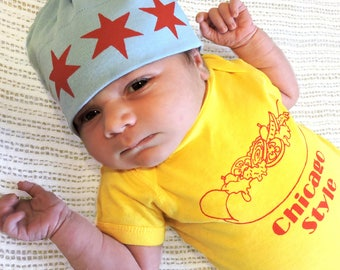Chicago Style Hot Dog- Foodie Baby Body Suit One PIece