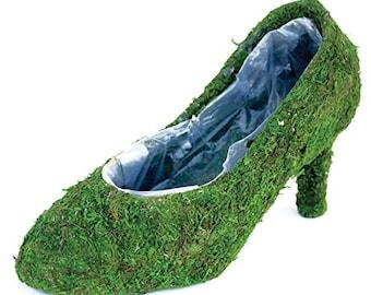 Moss shoe Planters 4 your choice-Shoe Baskets-Moss shoe-Moss boot-Moss planters-Moss pump-Sling back moss shoe