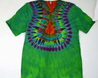 Wonders of the World ~ Tie Dye T-Shirt (Bella Canvas V-neck Size XL) (One of a Kind)