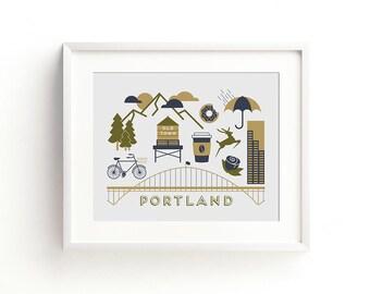 Portland Letterpress Art Print