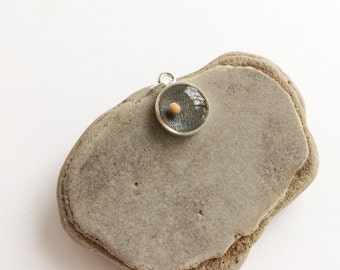 mustard seed necklace - silver mustard seed pendant - mustard seed faith charm - christian jewelry - faith gifts under 50 - baptism gift