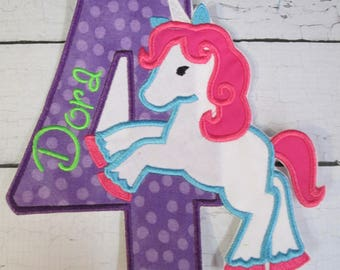 Iron On Applique - Unicorn Birthday and NEW Rainbow Unicorn Birthday