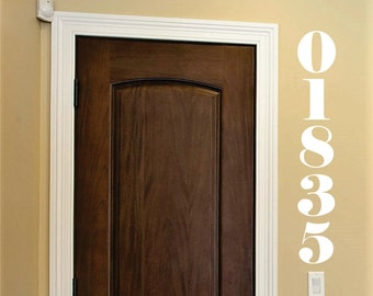 Zip Code Wall Decal, address number stickers for wall, five numbers wall decal, foyer entrance address wall decal, vinyl numbers for home