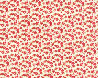 SPRING SALE - 1 7/8 yard - Little Ruby -  Little Rosie in Cream (55138-17) - Bonnie and Camille for Moda Fabrics