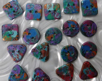 18 unusual funky handmade buttons (set18_08)