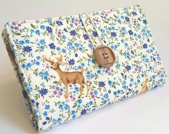 Deer Buck Tampon and Pad Holder Blue Lavender  (Privacy) Wallet - Deer in the Field