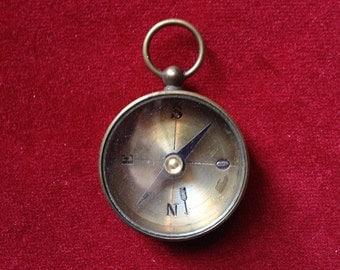 Brass compass pendant II