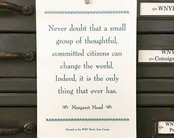 Margaret Mead Broadside