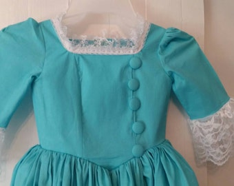 Colonial dress inspired by Eliza Schuyler Hamilton custom made for girls sizes 3-14