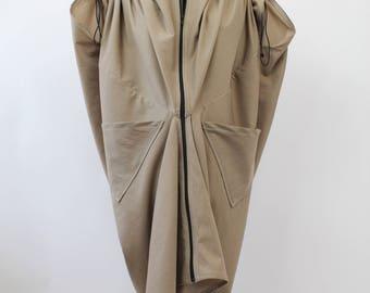 Tencel Cotton Khaki Oversized Coat
