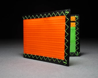 Bad Ass & Built to Last Radical Neon Orange Wallet - Fluorescent Wallet - Bifold ID