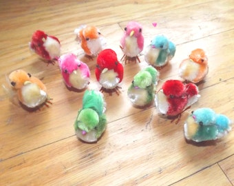 1960s miniature Easter chicks - help cats!
