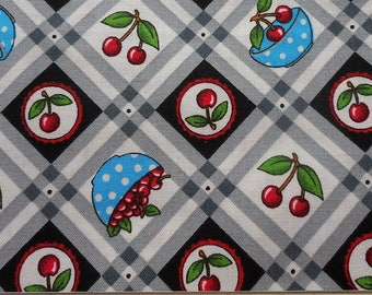 Mary Engelbreit Fabric with Cherries for Cranston Fabrics  (by the yard)