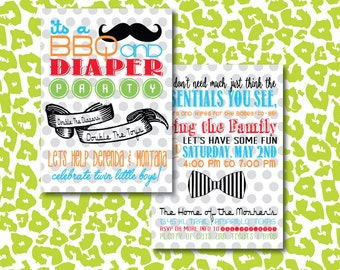 DIY BBQ and Diaper Guy/Girl or Couples Baby Shower