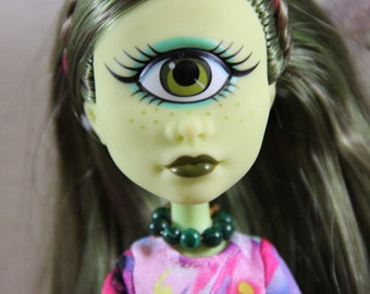Dark Green Beaded Doll Jewelry Necklace for Petite Slimline Monster Fairytale Pullip Fashion Dolls