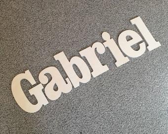 11 Inch Gabriel Unpainted Wooden Letters