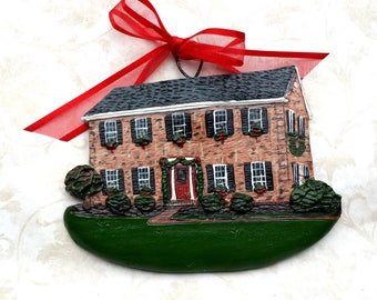 Custom listing for AmyG-  two Custom House Ornaments - a cherished keepsake of your home