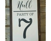 Party of Sign, Family Signs, Rustic Decor, Farmhouse Decor, Family Name Sign, Home Accents, Gallery Wall Art, Housewarming Gift, Mothers Day