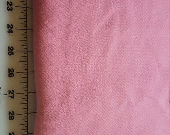 Vintage Salmon Pink looks like wool flannel over 2yd