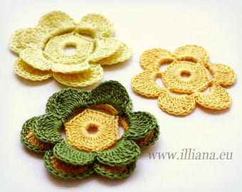 Crochet pattern. Crochet flowers