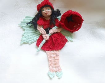 Red Poppy Fairy bookmark/decoration, fairytale decoration, unique bookmark, memorial day decor, veterans wife