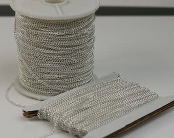 NEWnew 32 ft Sterling Silver Plated Solder LARGE Link Curb Chain  - 1.6mmx2.0mm SOLDERED Link