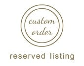 Custom order for Jorge