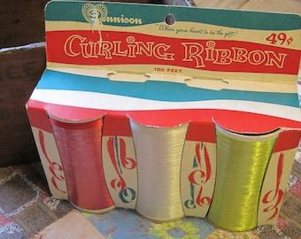 Rare Vintage Dennison Package of 3 Curling Ribbon 49 Cents