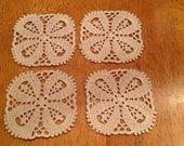 Ecry  crochet coasters/ set of 10 coasters